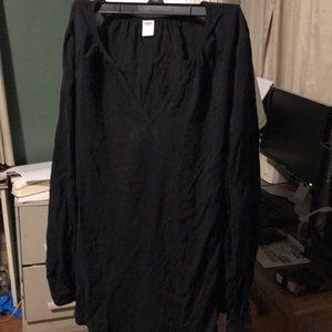 Long sleeve black tunic